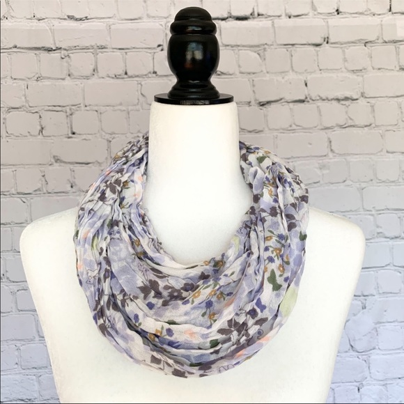 Lavender Lilac Floral Scarf